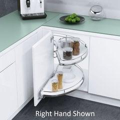 "Cornerstone Blind Corner for 39"" Cabinets LH White/Chrome"