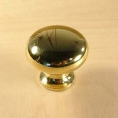 Saturn 1-1/4 Inch Diameter Polished Brass Cabinet Knob