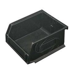 """Omni Track Storage Bin 4-1/4"""" X 5-1/4"""" X 3"""" Black Plastic"""