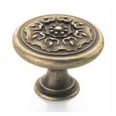 Sundara 1-1/4 Inch Diameter Weathered Brass Cabinet Knob <small>(#BP27030R2)</small>