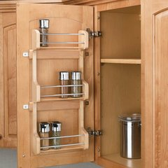 Door Mount Spice Rack 15 inch - Wood