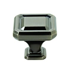 "Wells Knob 1-1/2"" Dia Gunmetal <small>(#BP36547GM)</small>"