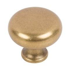"Successi Knob 1-1/4"" Dia Vintage Brass <small>(#A819-UB)</small>"