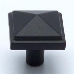 Rhapsody 1-3/16 Inch Diameter Satin Black Cabinet Knob