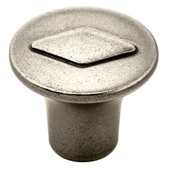Vasari 1-3/16 Inch Diameter Antique Nickel Cabinet Knob <small>(#BP24006AN)</small>