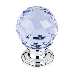 Crystal 1-1/8 Inch Diameter Light Blue Crystal Cabinet Knob <small>(#TK113PC)</small>
