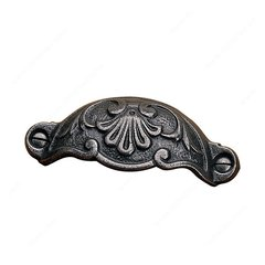 Forged Iron 3-5/8 Inch Center to Center Natural Iron Cabinet Cup Pull <small>(#202192908)</small>
