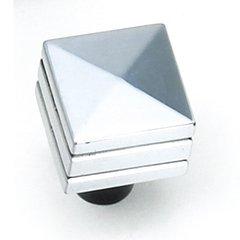 Kama 7/8 Inch Diameter Antique Silver Cabinet Knob <small>(#23260)</small>