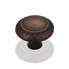 Symphony 1-3/8 Inch Diameter Dark Brushed Antique Copper Cabinet Knob <small>(#1977S-DBAC)</small>