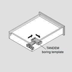 Universal Tandem Installation Template For Locking Devices