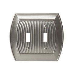 Allison Two Toggle Wall Plate Satin Nickel