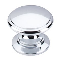 Somerset 1-1/4 Inch Diameter Polished Chrome Cabinet Knob <small>(#M350)</small>