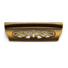 Firenza Designs 3-3/4 Inch Center to Center Light Firenza Bronze Cabinet Cup Pull