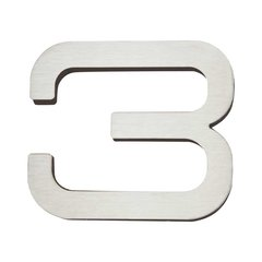 Paragon House Number Three Stainless Steel