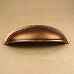 Hartford 3 Inch Center to Center Aged Copper Cabinet Cup Pull <small>(#13543-AC)</small>