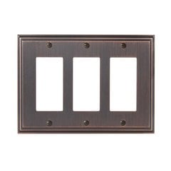 Mulholland Three Rocker Wall Plate Oil Rubbed Bronze