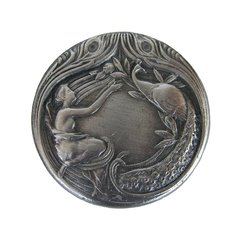 All Creatures 1-3/8 Inch Diameter Antique Pewter Cabinet Knob