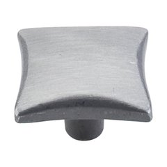 Chateau 1-1/4 Inch Diameter Pewter Light Cabinet Knob <small>(#M253)</small>