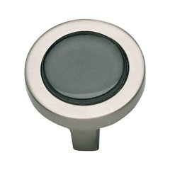 Spa 1-1/4 Inch Diameter Brushed Nickel Cabinet Knob <small>(#229-BLK-BRN)</small>