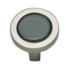 Spa 1-1/4 Inch Diameter Brushed Nickel Cabinet Knob