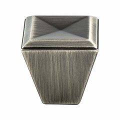 Connections 1-1/8 Inch Length Vintage Nickel Cabinet Knob