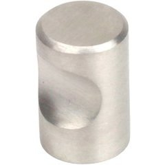 Stainless 3/4 Inch Diameter Brushed Stainless Steel Cabinet Knob