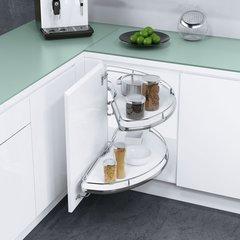 Cornerstone Blind Corner for 33 inch Cabinets RH White/Chrome