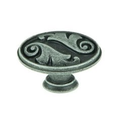 Meadow Brook 1-1/2 Inch Diameter Swedish Iron Cabinet Knob <small>(#CP81097-SI)</small>