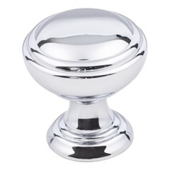 "Tiffany Cabinet Knob 1-1/4"" Dia - Polished Chrome"