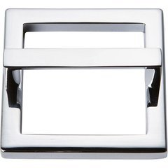 Tableau Pull and Baseplate 2-1/2 inch Center to Center Polished Chrome