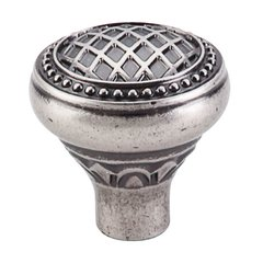 Trevi Fountain 1-5/16 Inch Diameter Pewter Antique Cabinet Knob <small>(#TK173PTA)</small>