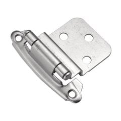3/8 inch Inset Surface Mt. Hinge Pair Chromalux Self Close