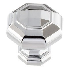 Elizabeth Knob 1-1/4 inch Diameter Polished Chrome