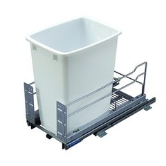 Kessebohmer Single Trash Pullout 36 Quart White 502.56.200