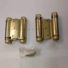 3029-3 3 inch Double Acting Mortise Spring Hinge - Satin Brass