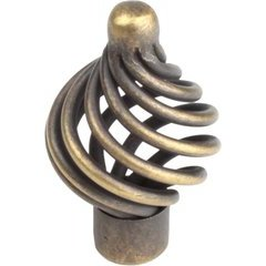 Orleans 1-15/16 Inch Wrought Iron Knob - Antique Brass