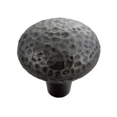 Mountain Lodge 1-3/8 Inch Diameter Black Iron Cabinet Knob <small>(#P3063-BI)</small>