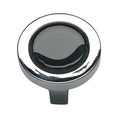Spa 1-1/4 Inch Diameter Polished Chrome Cabinet Knob
