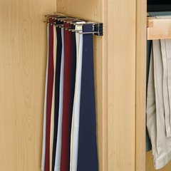 "Chrome Tie Rack 3""W"
