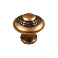 Appliance Pulls 1-3/8 Inch Diameter Antique Copper Cabinet Knob