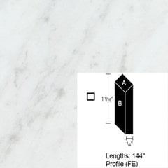 Wilsonart Bevel Edge - White Carrara - 12 Ft