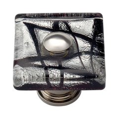 Glass 1-1/2 Inch Diameter Polished Chrome Cabinet Knob <small>(#3207-CH)</small>