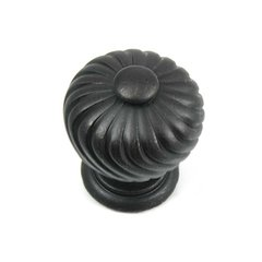 French Twist 1-1/4 Inch Diameter Oil Rubbed Bronze Cabinet Knob