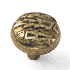 Native Romance 1-1/2 Inch Diameter Light Brass Cabinet Knob