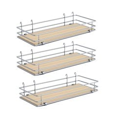 "DSA Three Basket Set 5"" Wide - Silver/Maple <small>(#9000 2588)</small>"
