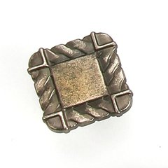 Galley 1-1/4 Inch Diameter Antique Pewter Cabinet Knob <small>(#38806)</small>