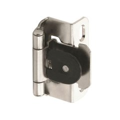 Single Demountable 1/2 inch Overlay Hinge Nickel-Pair