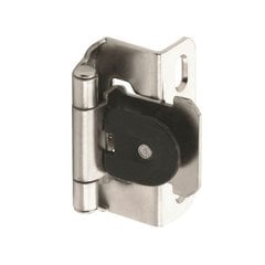 "Single Demountable 1/2"" Overlay Hinge Nickel-Pair"