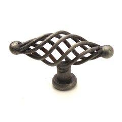Saxon 2-3/4 Inch Diameter Wrought Iron Cabinet Knob <small>(#42428-WI)</small>
