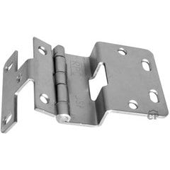#376 Five Knuckle Overlay Institutional Hinge - Brushed Chrome